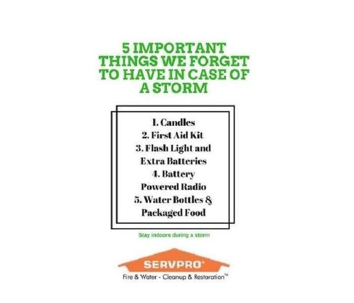 5 Items To Have In Preparation For A Storm