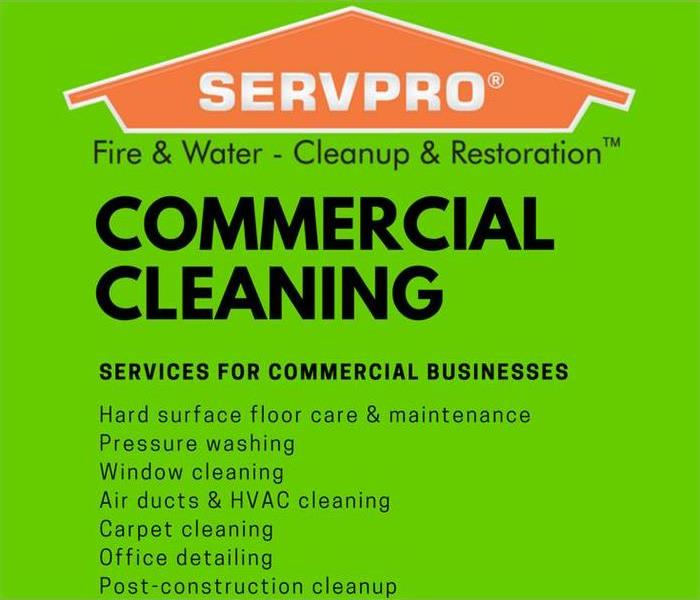 Commercial Cleaning Services by SERVPRO of Fairfax, Vienna, and Oakton!